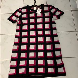 NWT Kate Spade Windowpane sweater dress M